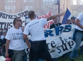 Manifestation des ULTRAS Montpellier