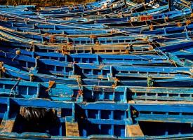 Les barques bleues d'Essaouira