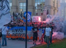Manifestation des Ultras Montpellier Octobre 2012