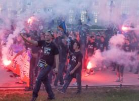 Manifestation des Ultras Montpellier Oct 2012 Place de l'Europe