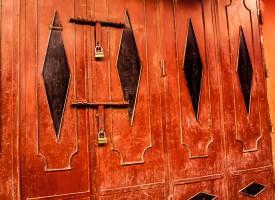 Métal porte